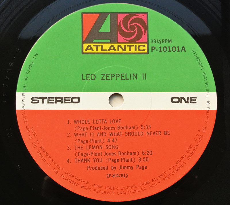винил Япония Led Zeppelin II